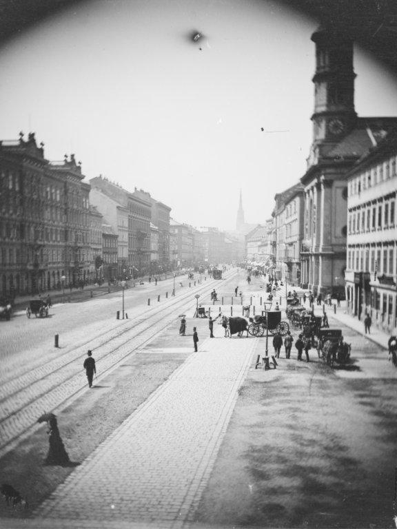 historische Aufnahme der Praterstraße, 1876, 1020 WIen
