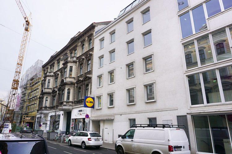 Neubau in einer Schutzzone in der Hernalser Hauptstraße, Wien