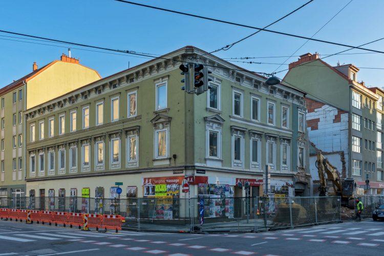 Hofmühlgasse 6 wird abgerissen, Wien-Mariahilf