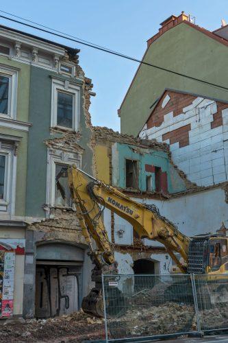 Frühgründerzeithaus Hofmühlgasse 6 wird abgerissen, Wien-Mariahilf