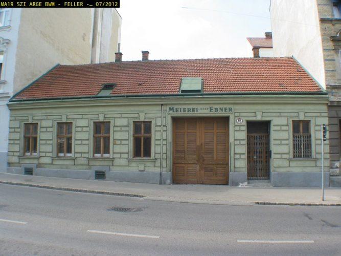"""""""Meierei Josef Ebner"""", Huttengasse 85, 1160 Wien, später abgerissen"""