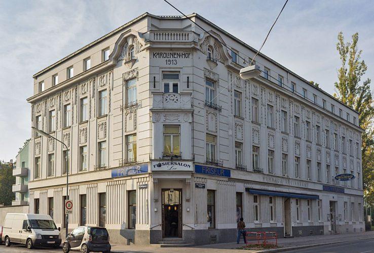 Jedleseer Straße 75, Hotel Karolinenhof, 2018 abgerissen