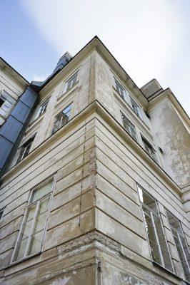 Fassade der ehemaligen Kinderklinik des Wiener AKH, Lazarettgassenweg