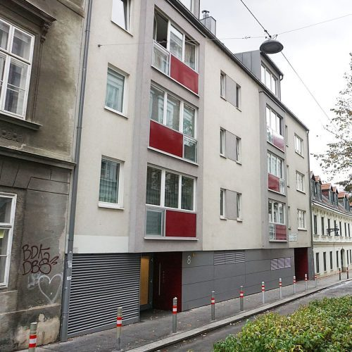 Neubau Marchettigasse 8, erbaut in Schutzzone nach Abriss eines 1822 erbauten Hauses