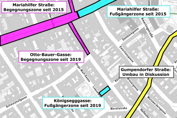 verkehrsberuhigte Straßen im 6. Bezirk