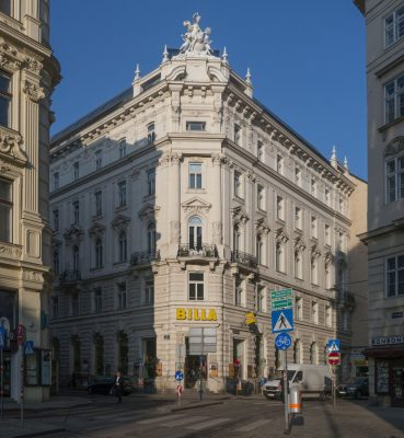 Gründerzeithaus Schottengasse 1 in Wien, Innere Stadt (1. Bezirk), Architekt: Emil Förster