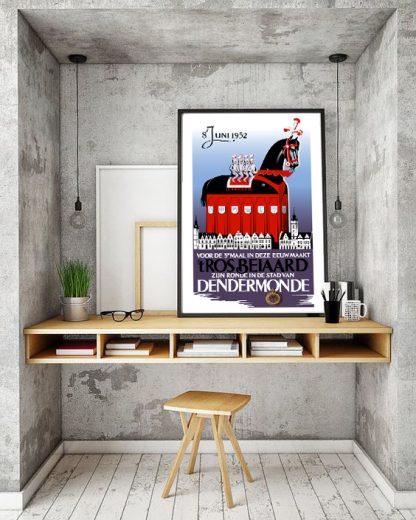 Affiche Stoet 1952 - Remake naar origineel ontwerp