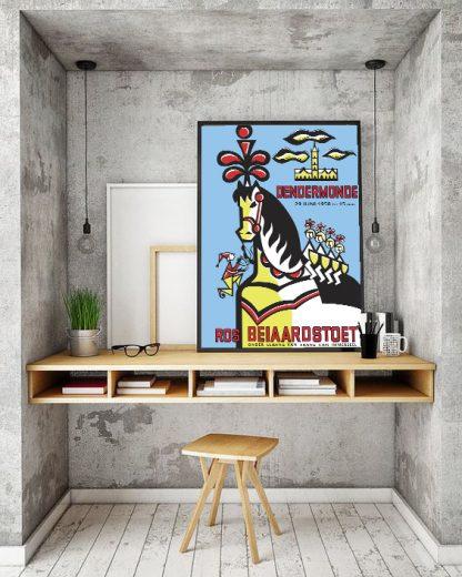 Affiche Stoet 1958 - Remake naar origineel ontwerp van Lydia De Ganck