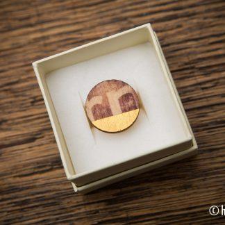 ring print op hout