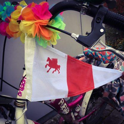 Puntvlaggetje voor op de fiets