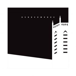 modernistisch - Oh Lieve Vrouwe Toren - Nacht - 30x30