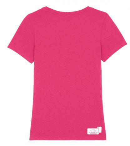 T-shirt Eva Mouton Geborduurd Ros (vrouw)