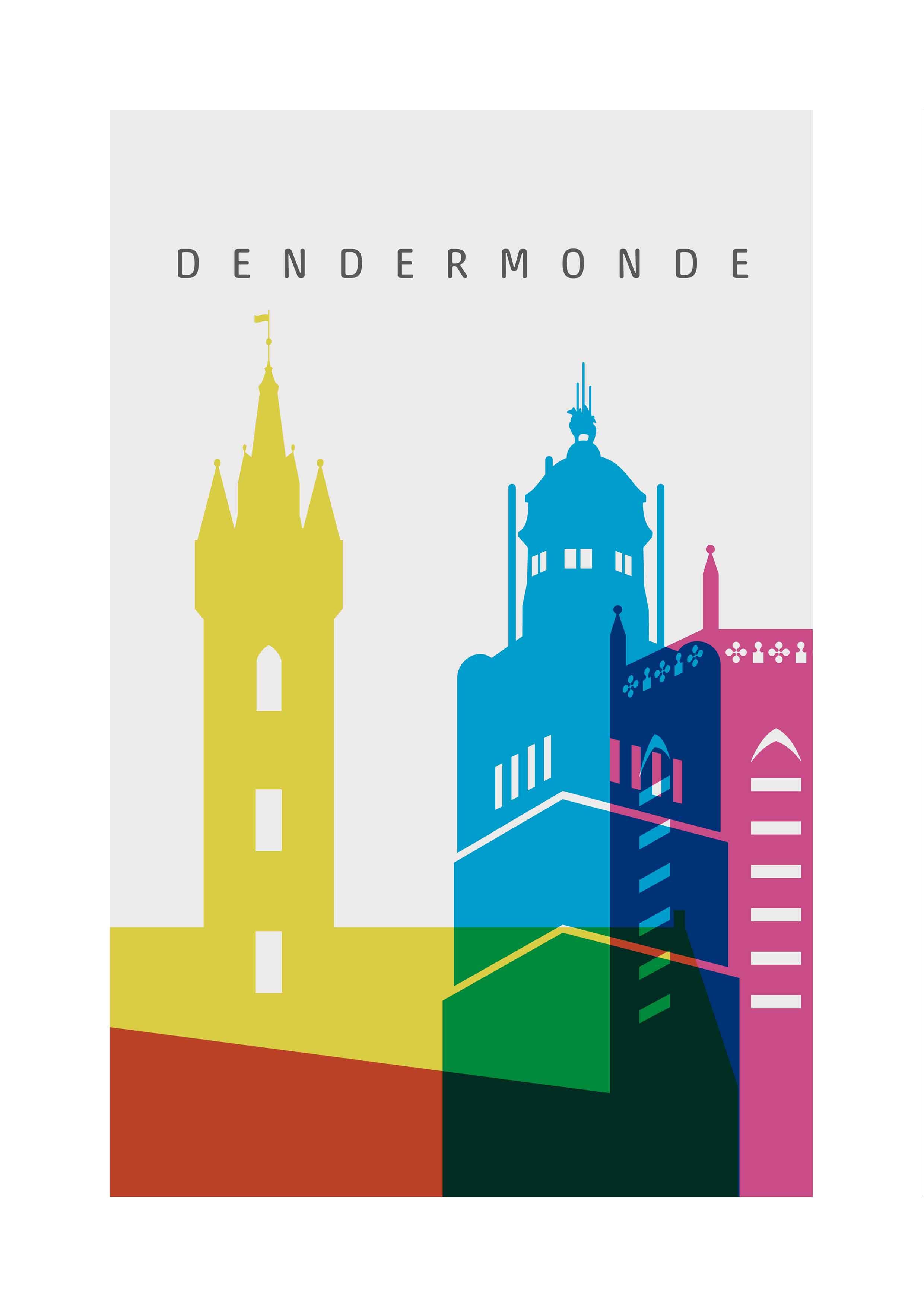 awsome... kleurige Torens van de Stad