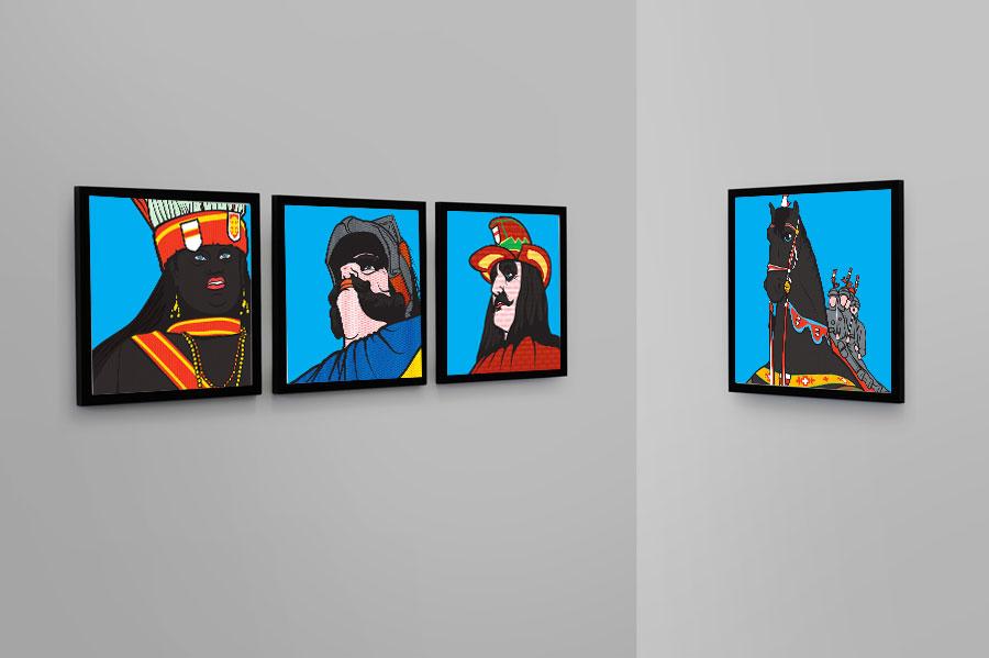 """Liechtenstein - Set """"Dendermondse Trots"""" 4 canvassen"""
