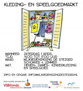 Advertentie kleding- en speelgoedmarkt