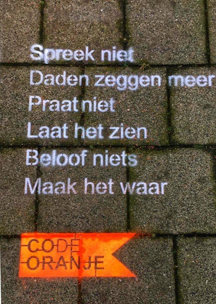 Code Oranje gedicht