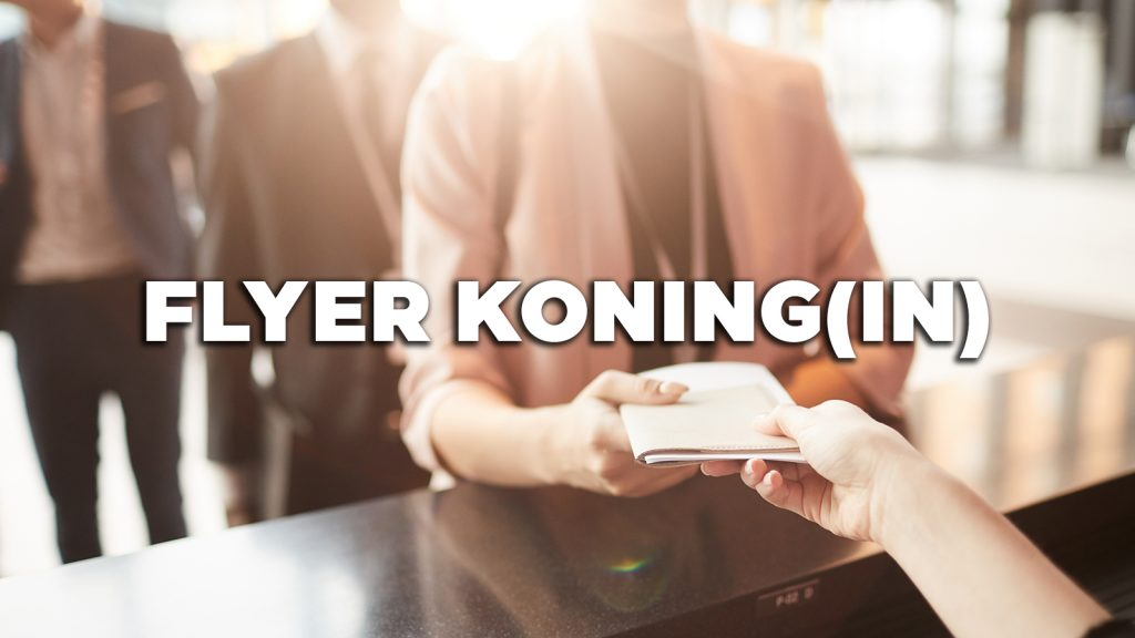 Vacature: Flyer Koning(in)