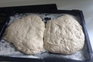 ciabatta on the oven baking sheet©️Nel Brouwer-van den Bergh