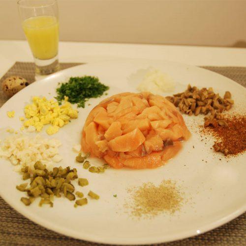 Salmon tartar photo: ©️Nel Brouwer-van den Bergh