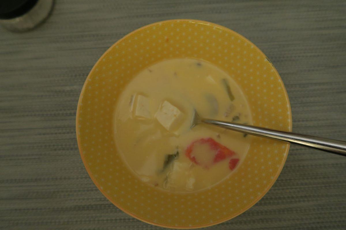 Vegetarian Tom Kha Gai soup photo: ©️Nel Brouwer-van den Bergh