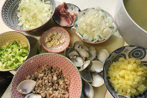 clam chowder ingredients photo: ©️Nel Brouwer-van den Bergh