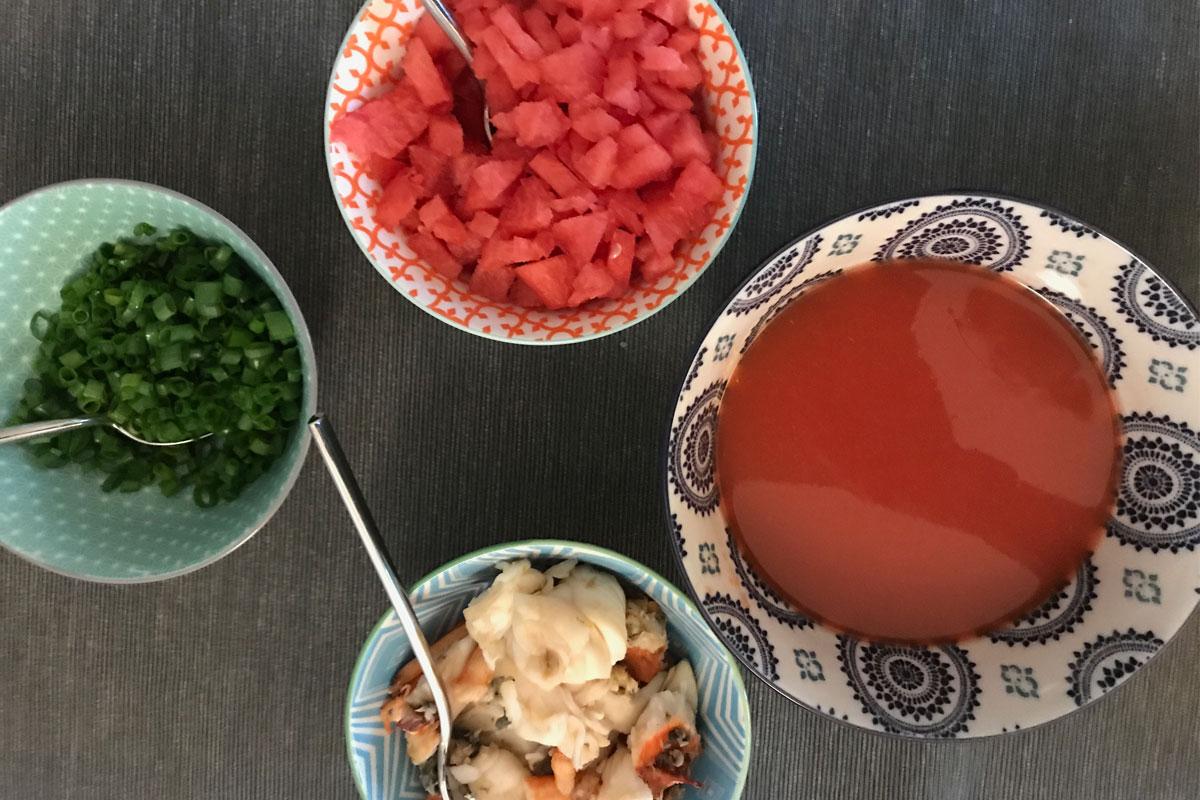 water melon soup ©️ Nel Brouwer-van den Bergh