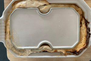 Salmon pate en croute after 3 days under weight in fridge ©️ Nel Brouwer-van den Bergh