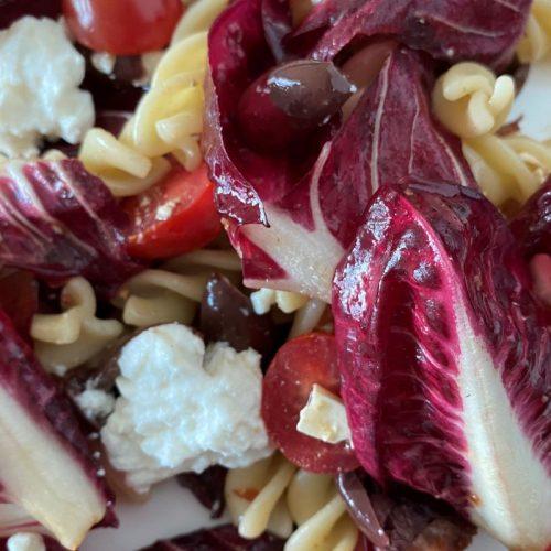 Sicilian Pasta Salad with Radicchio close up©️ Nel Brouwer-van den Bergh