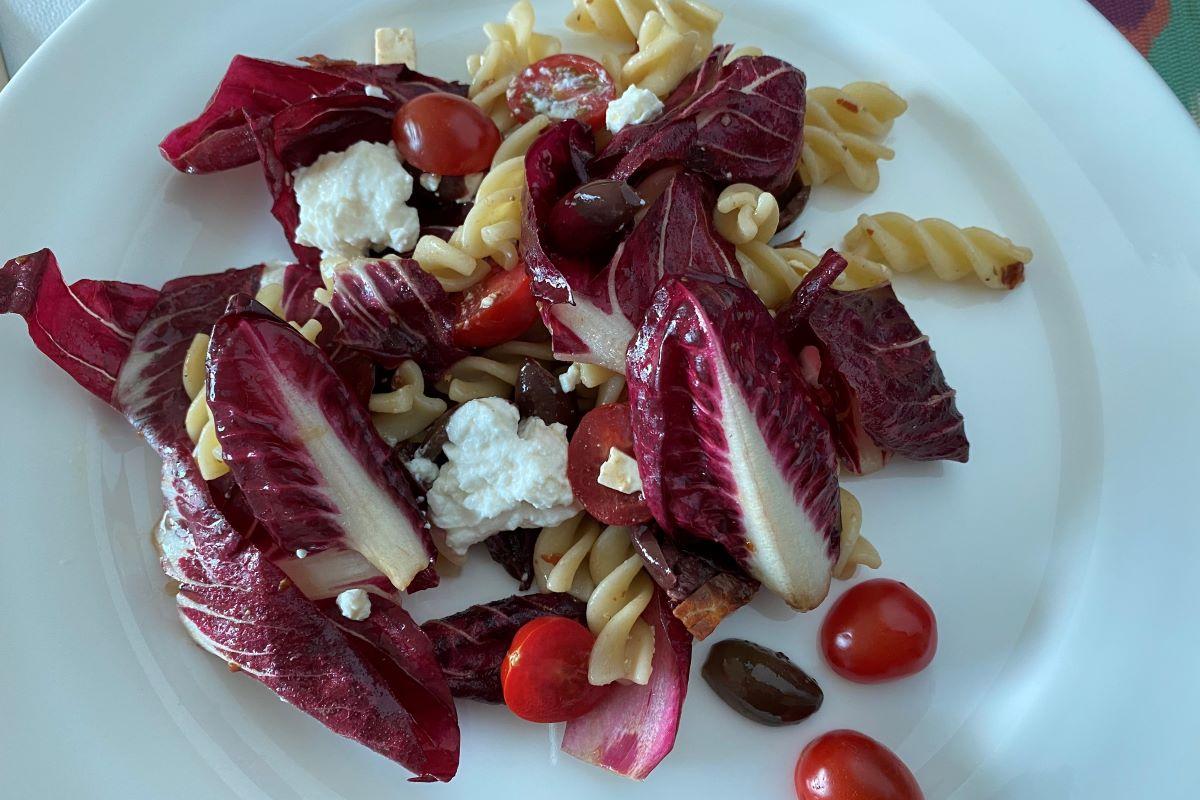 Sicilian pasta salad wth Radicchio©️ Nel Brouwer-van den Bergh