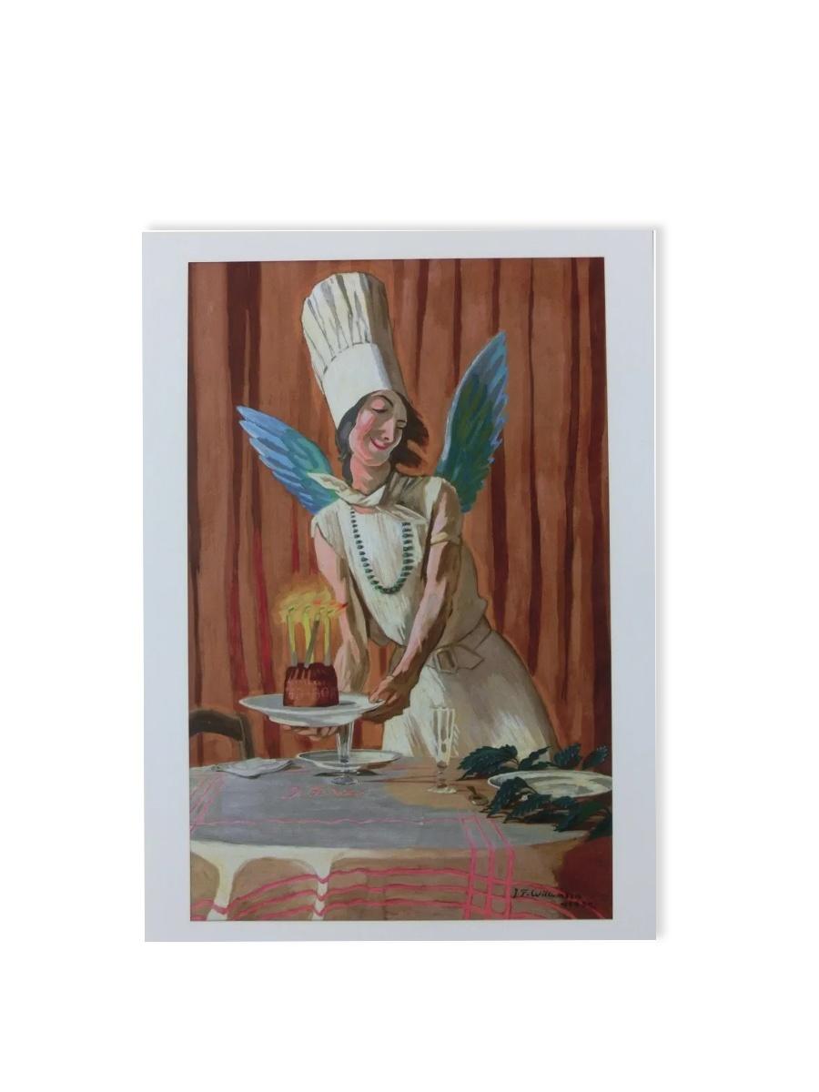 Fødselsdagskagen, en spøg Postkort Willumsens Museum