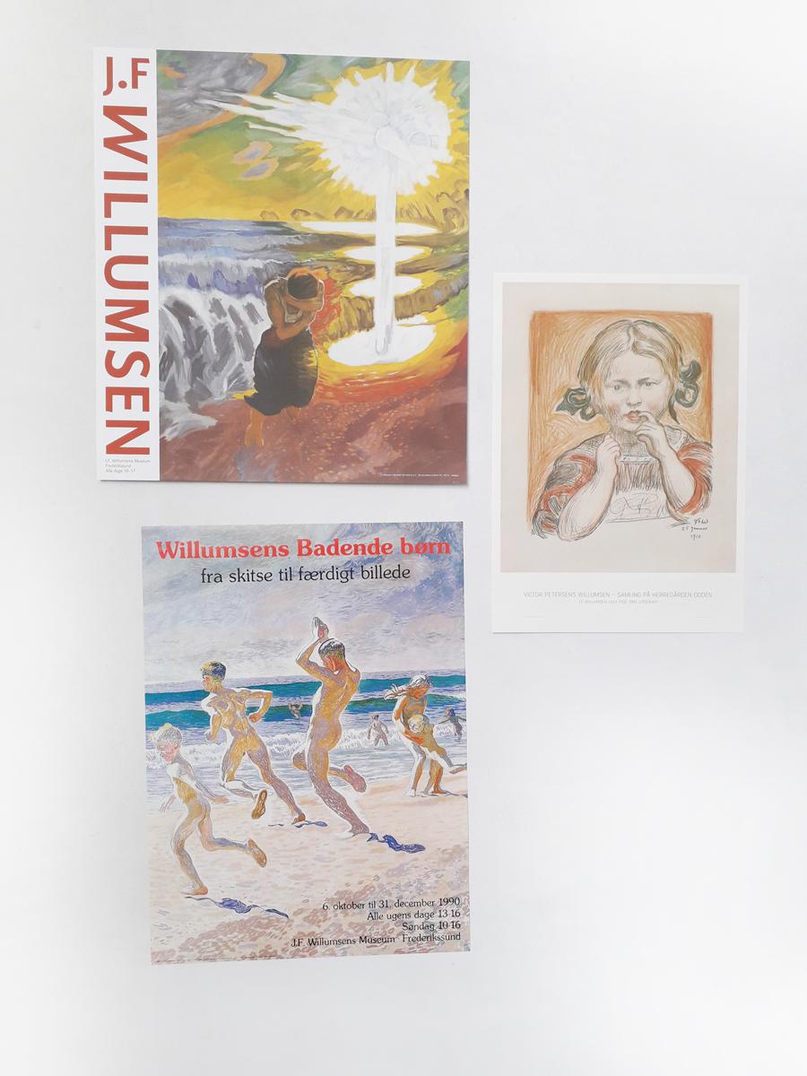 Naturskræk interiør Willumsens Museum Plakater