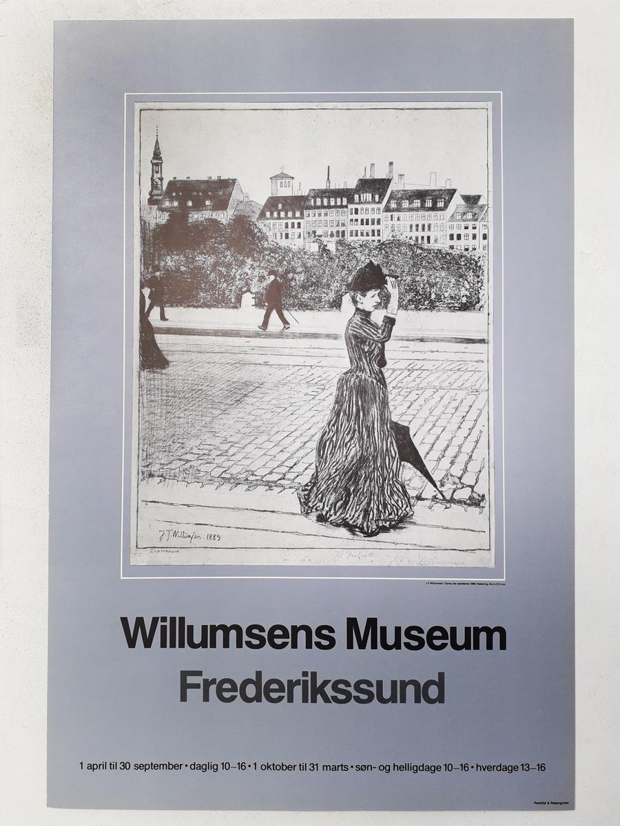 Spadserende dame Plakater Willumsens Museum