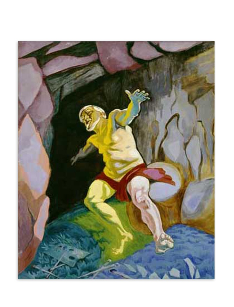 Tizian døende Postkort Willumsens Museum