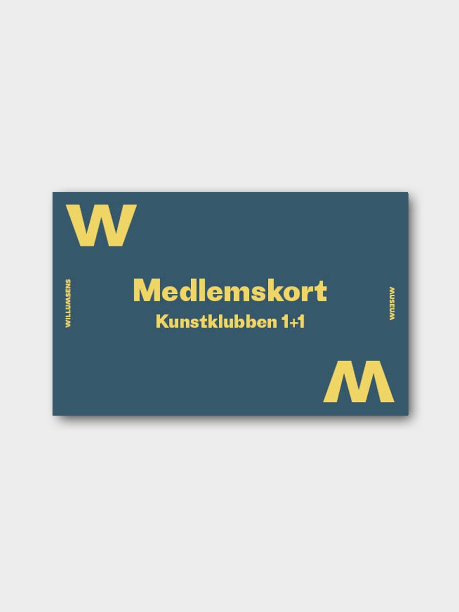 Klubkort 1+1 Willumsens Museum