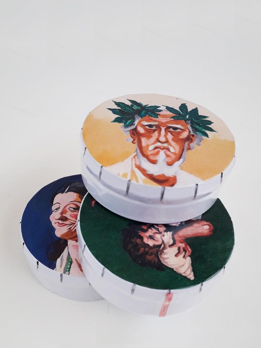 Oversigt portrætter Willumsens Museum Æsle med pastiller