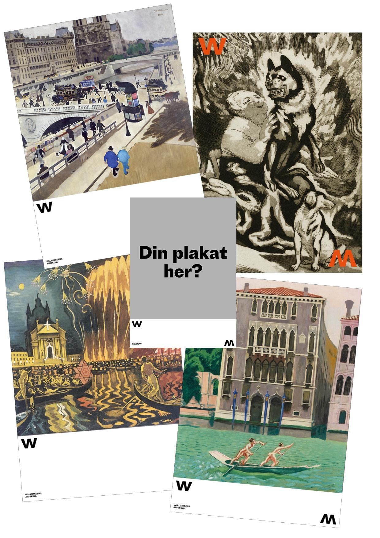 Plakat med eget design Willumsens Museum