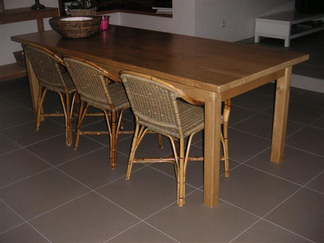 eiken tafel 2x1,4m
