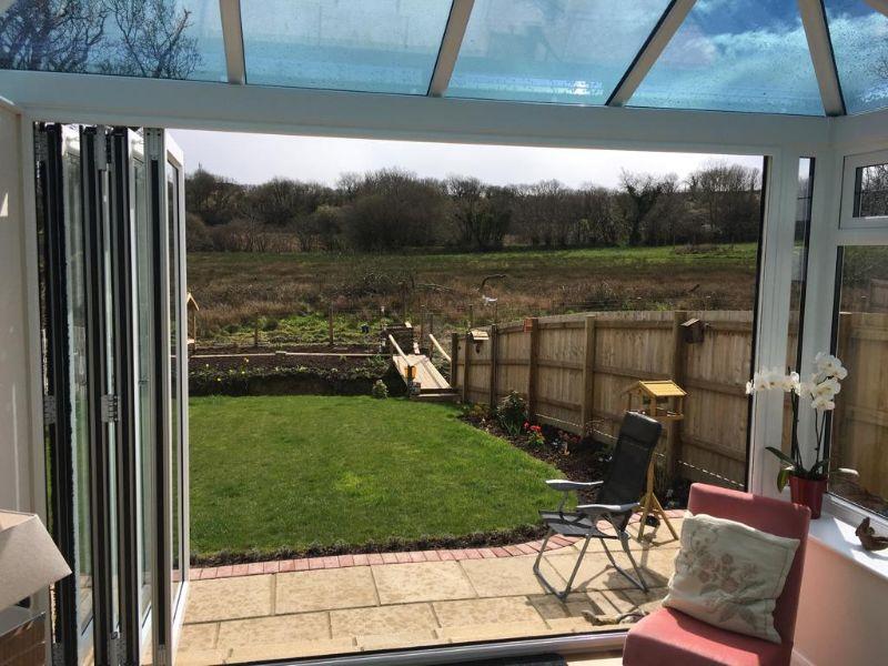 bi-fold doors that open out onto the garden