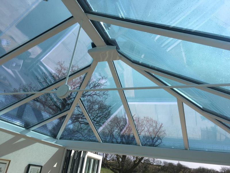 fully glazed conservatory roof