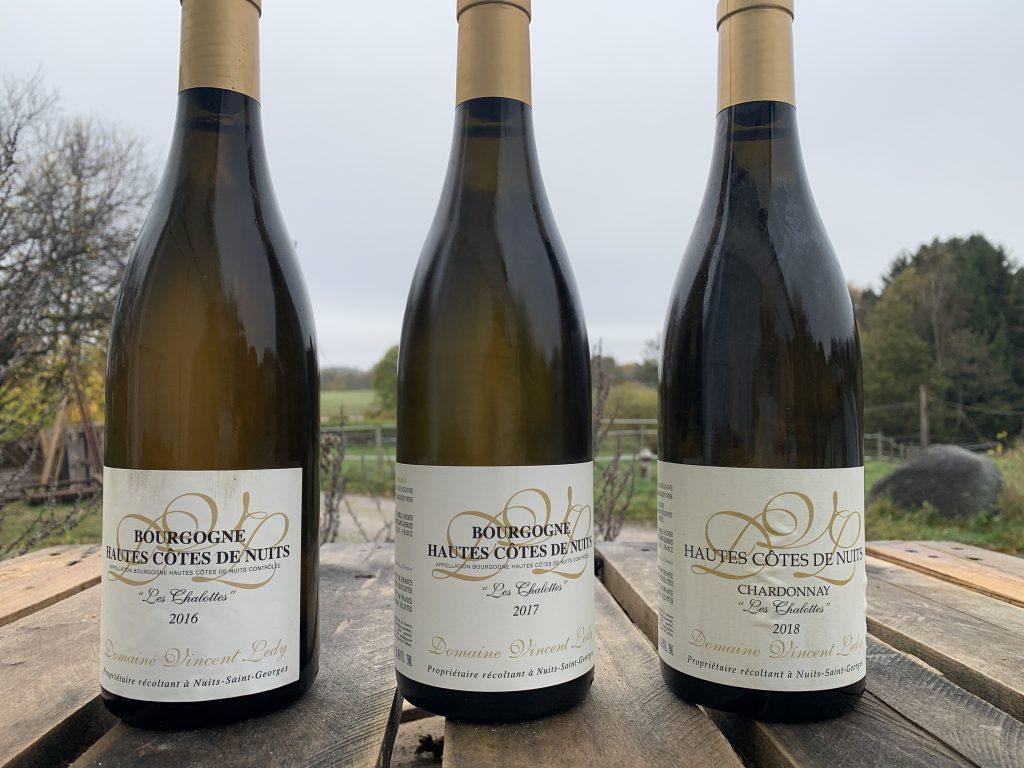 Billedet viser flere årgange af den samme vin