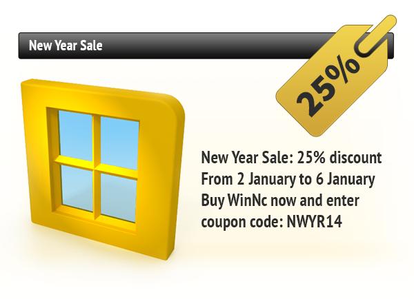 WinNc New Year Sale: 25% Discount