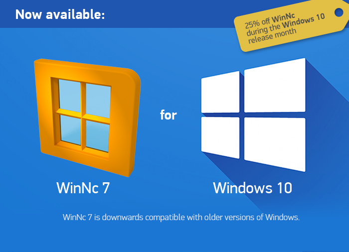 WinNc 7.1.0.0 update – extended period for 25% discount