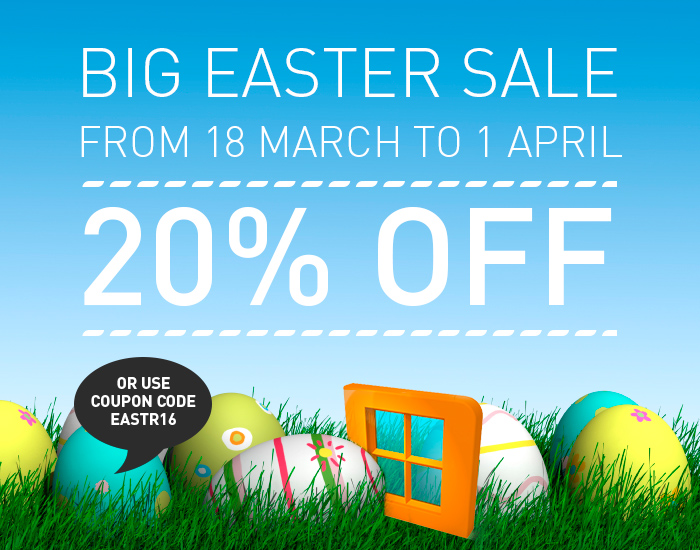 WinNc Big Easter Sale: 20% off