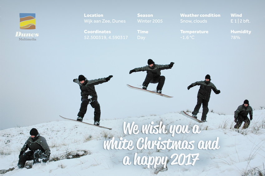 We wish you a white Christmas and a happy 2017