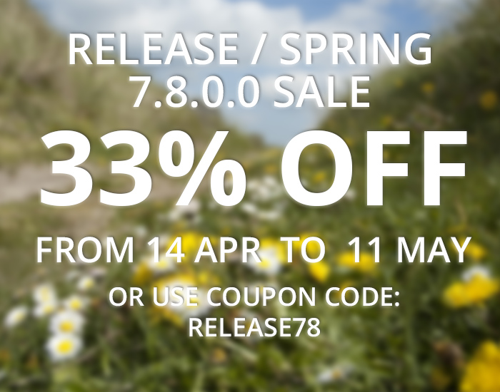WinNc 7.8.0.0 available with 33% off spring / release sale