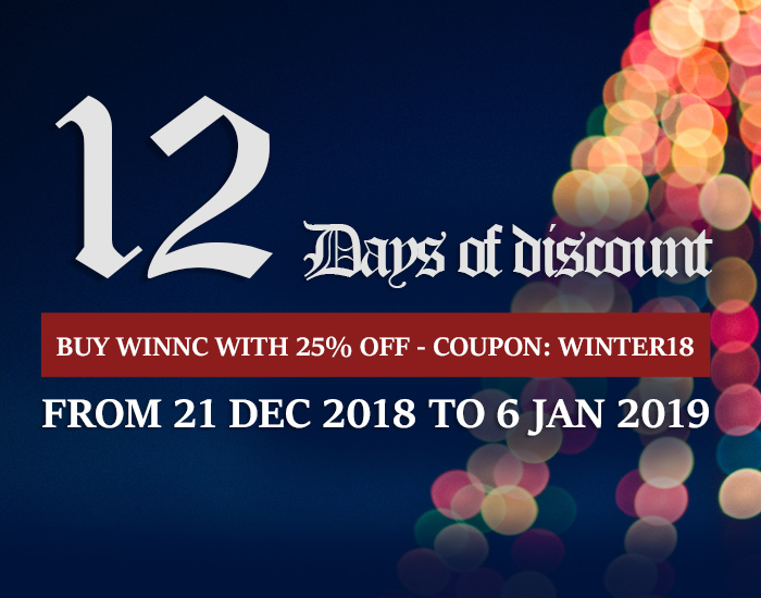 25% off, 12 Days of discount for WinNc 8.4.0.0 now available!