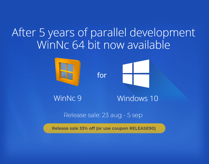 WinNc 9 – Now 64 bit available