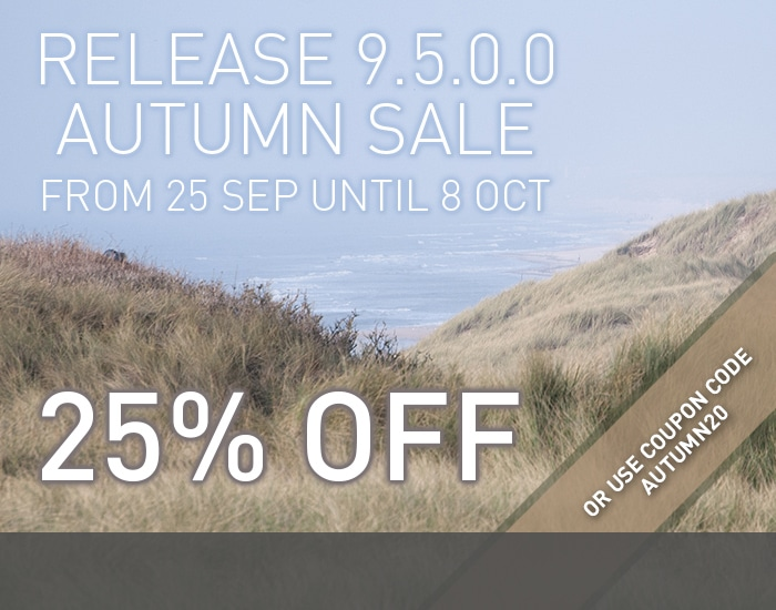 Release Autumn sale - From 25 sep until 8 oct