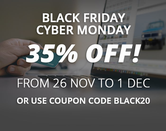 35% off using Black Friday coupon code BLACK20