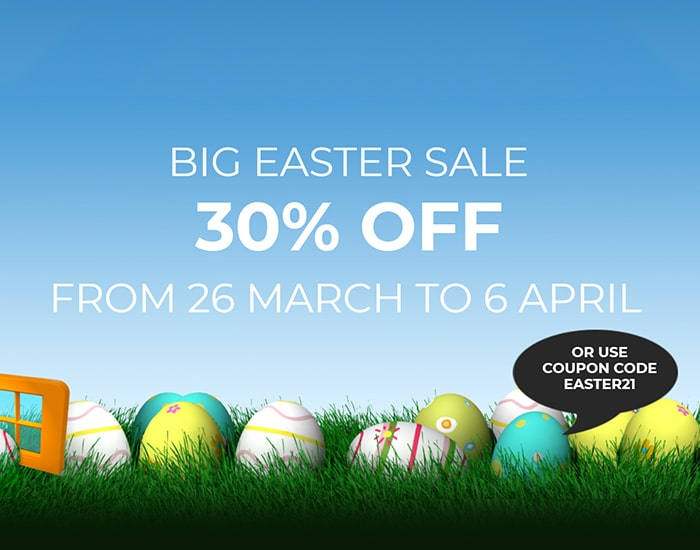 BIG EASTER SALE – 30% OFF